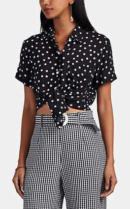 Solid & Striped Women's The Cabana Polka Dot Shirt - Black