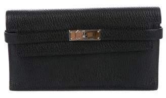 Hermes Chevre Mysore Kelly Trifold Wallet