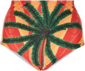 Agua de Coco High-Rise Printed Bikini Briefs