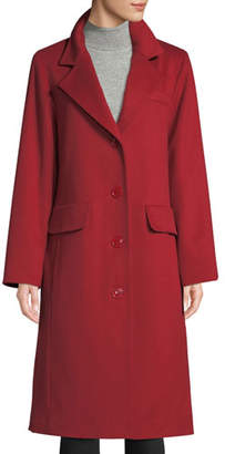Sofia Cashmere Long Updated Classic Wool-Blend Coat