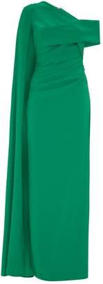 Talbot Runhof Asymmetric Rosedale Gown
