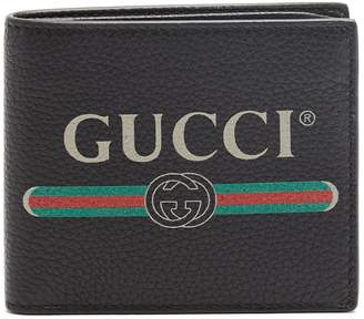 Gucci Logo-print bi-fold leather wallet
