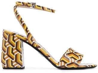 Prada geometric pattern sandals