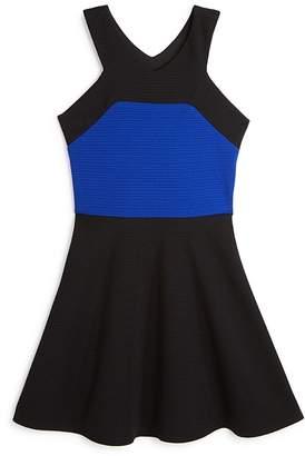 Sally Miller Girls' Textured Color-Block Dress - Big Kid
