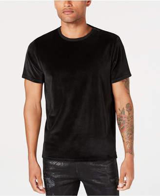 GUESS Men's Velour Zip-Detail T-Shirt