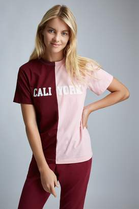 Cynthia Rowley X Bandier Emb Caliyork Color Block Tee
