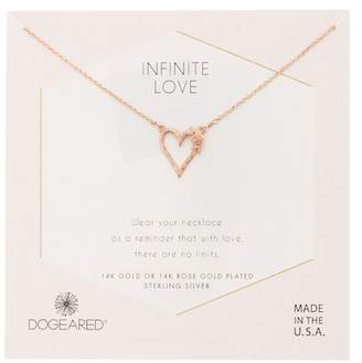 Dogeared 14K Rose Gold Vermeil Open Hearted Bloom Necklace