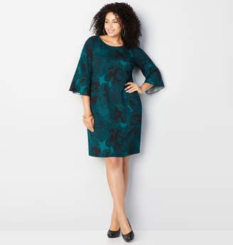 Avenue Paisley Foulard A-line Dress