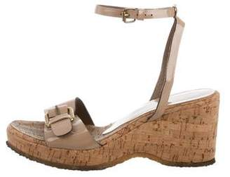 Stella McCartney Vegan Leather Wedge Sandals