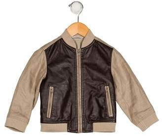 Dolce & Gabbana Boys' Leather-Accented Lightweight Jacket