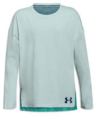 Under Armour Girls' Long-Sleeve Tee with Back Mesh Panel - Big Kid