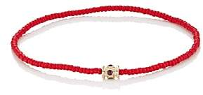 Luis Morais Men's Beaded Bracelet - Red