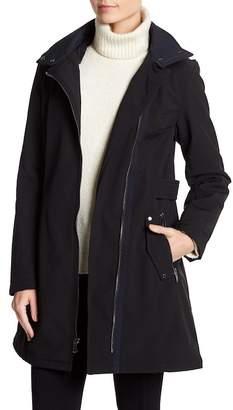 Via Spiga Hooded Faux Fur Lined Military Coat