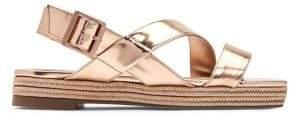 Katy Perry Lenore Metallic Buckle Sandals