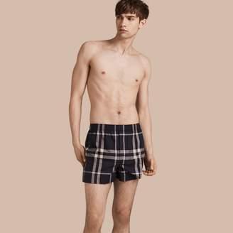 Burberry Check Twill Cotton Boxer Shorts