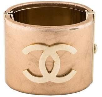 Chanel Leather Logo Cuff