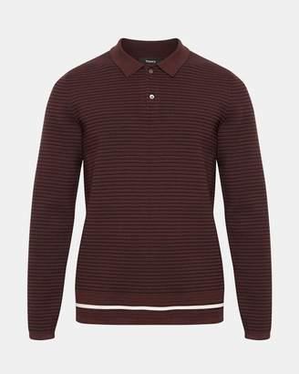 Theory Mr Porter x Striped Long-Sleeve Polo