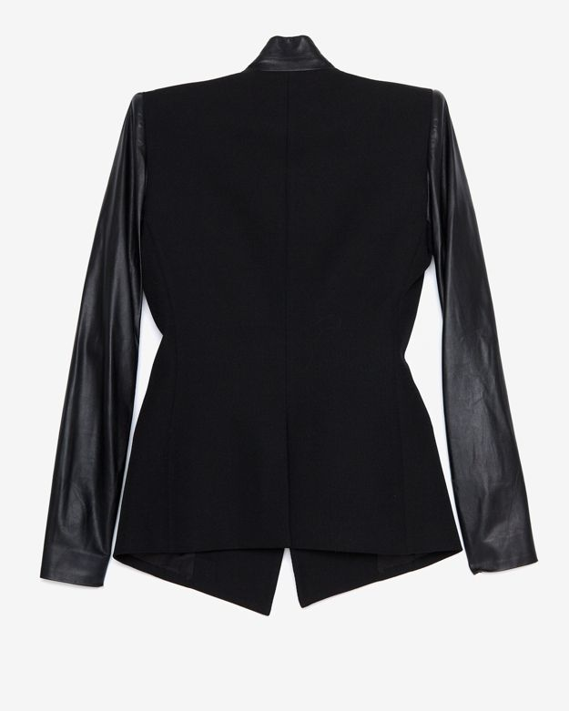 Helmut Lang Crux Leather Sleeve Blazer 3