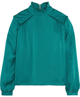 Pierre Balmain Washed-silk Blouse - Teal