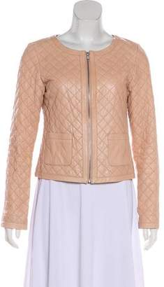 Hinge Quilted Leather Jacket