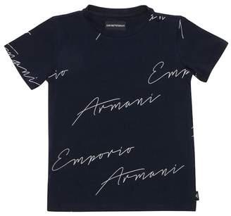 Giorgio Armani Cotton Jersey Logo T