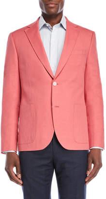 Ibiza Pink Linen-Blend Sport Coat