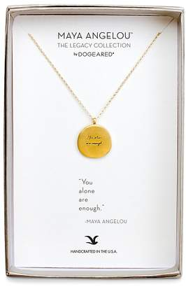 """Dogeared Maya Angelou Legacy Collection """"You Alone are Enough"""" Necklace, 18"""""""