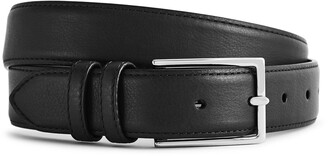 Reiss MARTIN FORMAL LEATHER BELT Black
