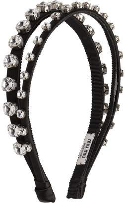 Miu Miu crystal-embellished double headband 9ab9f199222da