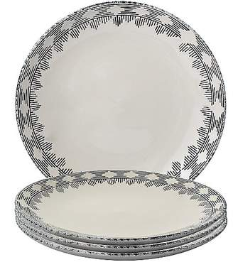 George Home Botanical Embossed Dinner Plates - Set of 4