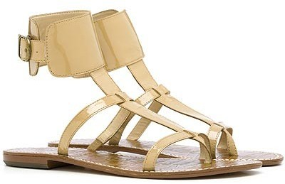 Sam Edelman Ginnie Ankle Cuff Sandal in Nude