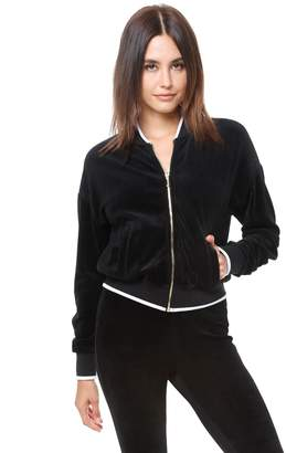 Juicy Couture Velour Ruched Sleeve Jacket