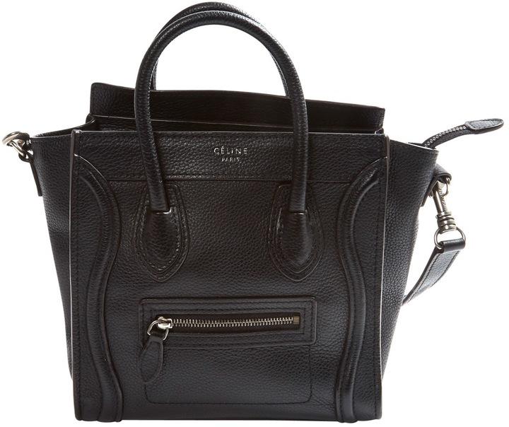 CelineNano Luggage leather mini bag
