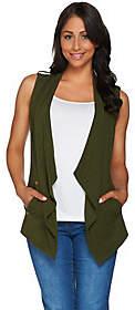 Susan Graver Weekend Stretch Cotton Modal DrapeFront Vest