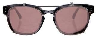 Linda Farrow Titanium Clip-On Sunglasses