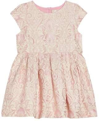 Lenox Peek Brocade Dress (Toddler Girls, Little Girls & Big Girls)