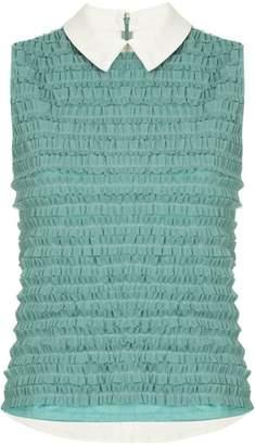 Tu Es Mon Trésor frill-detail sleeveless blouse