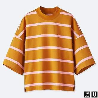 Uniqlo Women's U Oversize Striped Square Half-sleeve T-Shirt