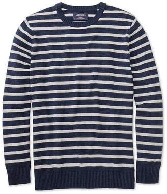 Charles Tyrwhitt Navy and Grey Blue Heather Crew Neck Cotton Sweater Size Large
