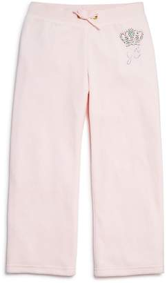Juicy Couture Girls' Velour Rhinestone-Crown Mar Vista Pants - Big Kid