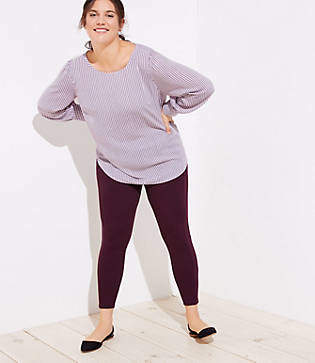 LOFT Plus Leggings in Seamed Ponte