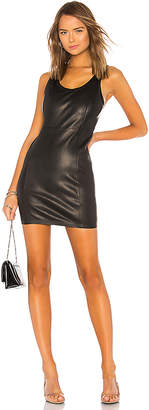 Alexander Wang Leather Fitted Mini Dress