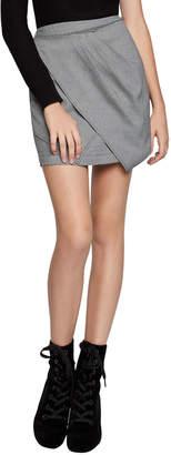 BCBGeneration Twist-Front Tweed Mini Skirt