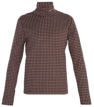 Calvin Klein Logo Embroidered Roll Neck Top - Mens - Red