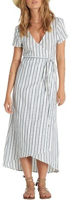 Women's Billabong Right Side Wrap Midi Dress $59.95 thestylecure.com