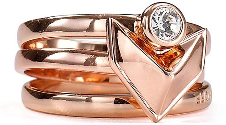 Rebecca Minkoff Heart Stack Ring