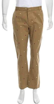 Band Of Outsiders Embroidered Flat Front Pants