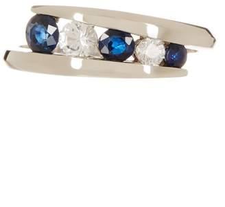 Effy 14K White Gold Blue Sapphire Ring