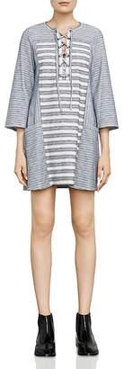 BCBGMAXAZRIA Lani Tie-Front Embroidered Dress $178 thestylecure.com