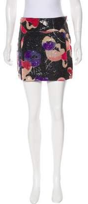 Diane von Furstenberg Embellished Mini Skirt